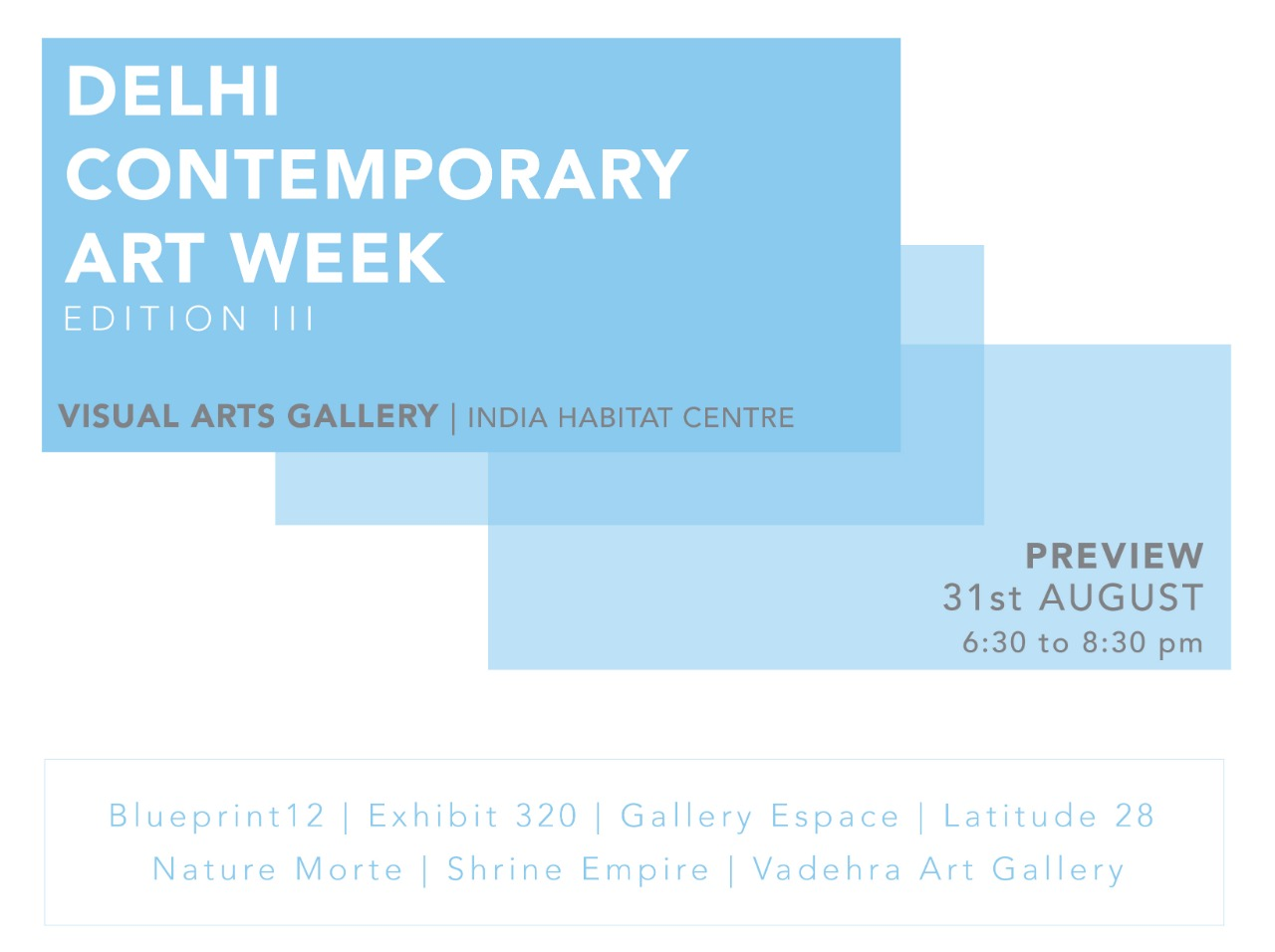 Group show by 7 Contemporary Galleries